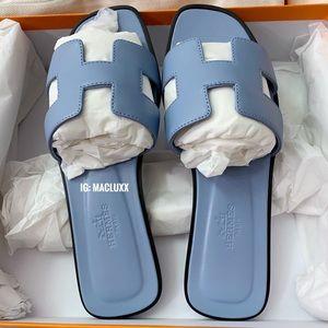 Hermes Oran Calfskin leather - Bleu/Blue - size 35